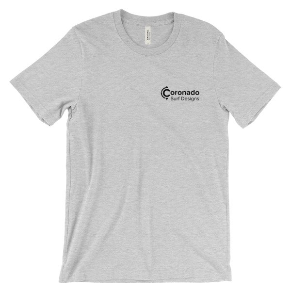 Coronado Classic Men's/Unisex Short Sleeve T-shirt - Athletic Heather (front)