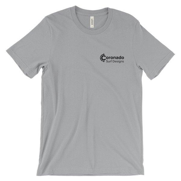 Coronado Classic Men's/Unisex Short Sleeve T-shirt - Silver (front)