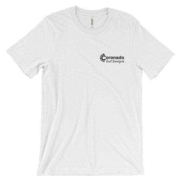 Coronado Classic Men's/Unisex Short Sleeve T-shirt - White (front)
