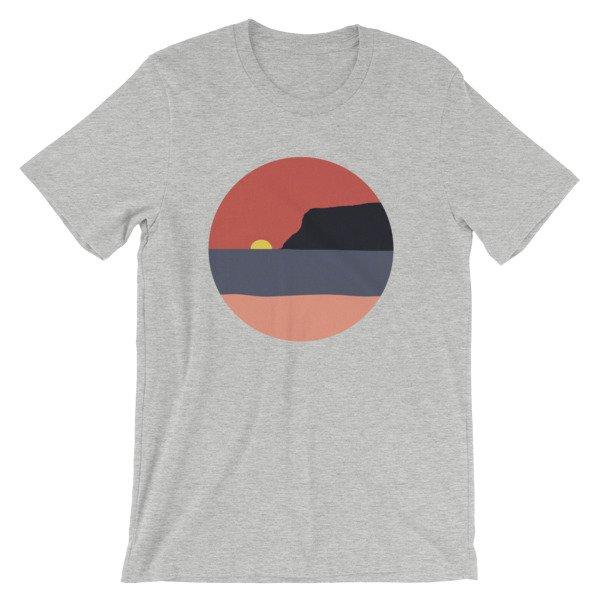 Coronado Island Sunset t-shirt Athletic Heather
