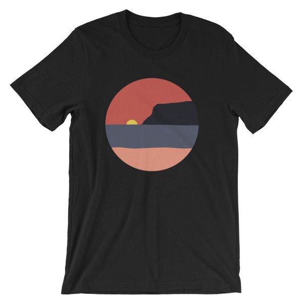 Coronado Sunset with Point Loma short-sleeve t-shirt (Black)