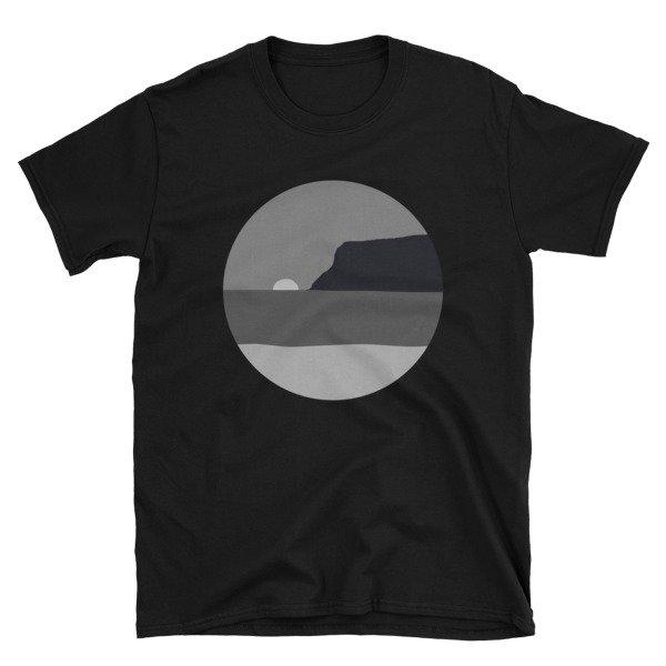 May Grey / June Gloom Coronado Sunset with Point Loma T-shirt (Black)