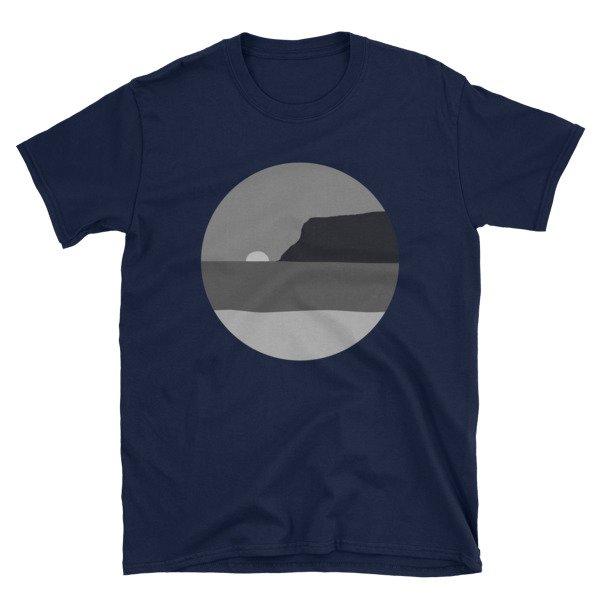 May Grey / June Gloom Coronado Sunset with Point Loma T-shirt (Navy)