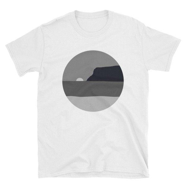 May Grey / June Gloom Coronado Sunset with Point Loma T-shirt (White)