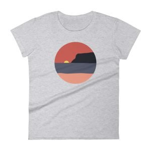Women's Coronado Island Sunset T-shirt with Point Loma (Heather Grey)