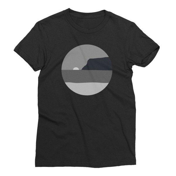 Women's May Grey / June Gloom Coronado California T-shirt (Black)