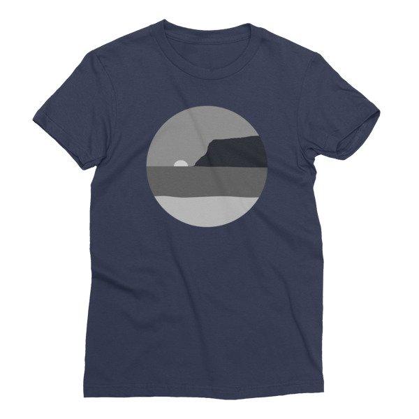 Women's May Grey / June Gloom Coronado California T-shirt (Navy)