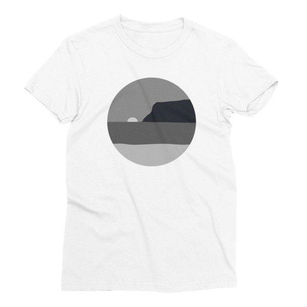 Women's May Grey / June Gloom Coronado California T-shirt (White)