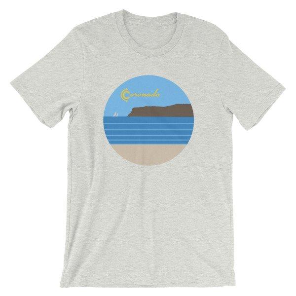 Coronado Sunny Weather Unisex short sleeve t-shirt (Ash)