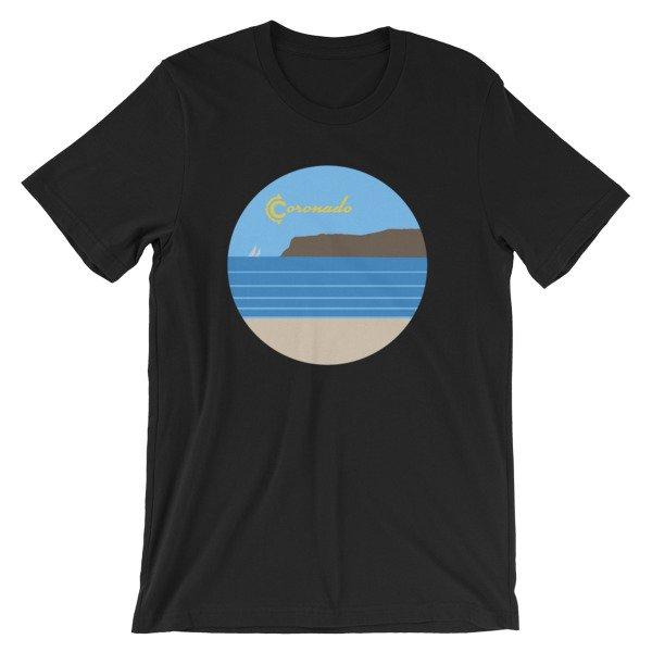 Coronado Sunny Weather Unisex short sleeve t-shirt (Black)