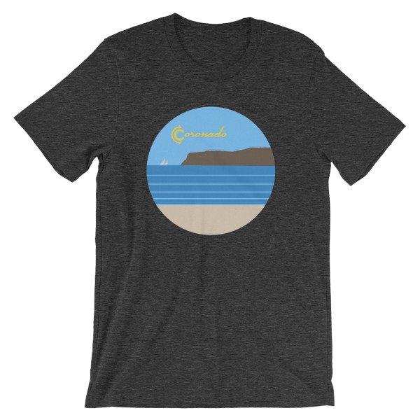 Coronado Sunny Weather Unisex short sleeve t-shirt (Dark Grey Heather)