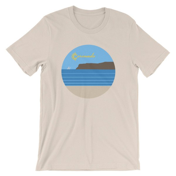 Coronado Sunny Weather Unisex short sleeve t-shirt (Soft Cream)