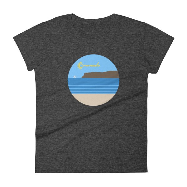 Coronado Sunny Weather Women's short sleeve t-shirt (dark heather grey)
