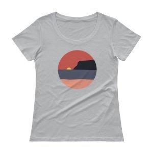Ladies' Coronado Island Sunset Scoop Neck T-Shirt (Silver)