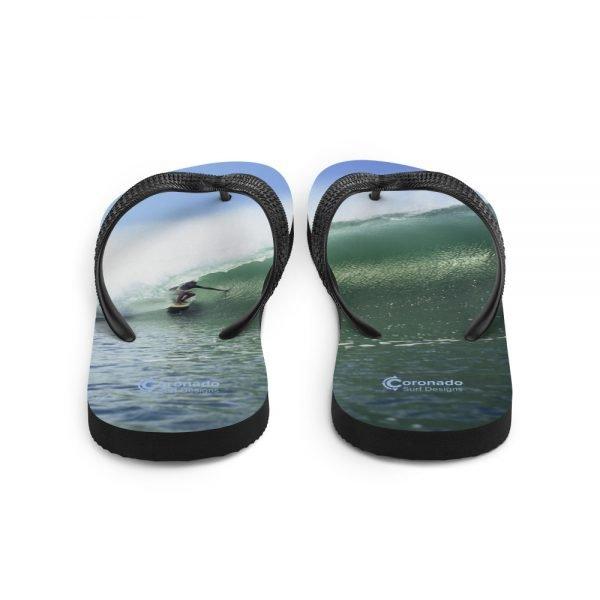 Coronado Island Flip-Flops–Tuberider Surf Soles-behind