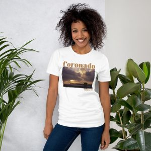 Coronado CA, Old Guard Sunset, Short-Sleeve Unisex T-Shirt-white