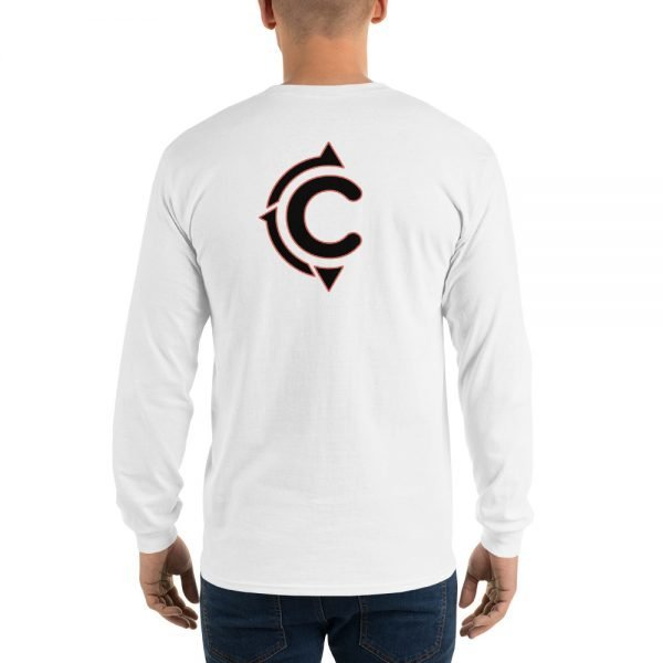 Coronado Classic Men's/Unisex Long Sleeve T-shirt (White)-back