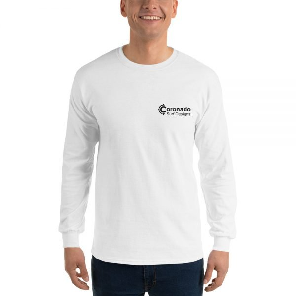 Coronado Classic Men's/Unisex Long Sleeve T-shirt (White)-front