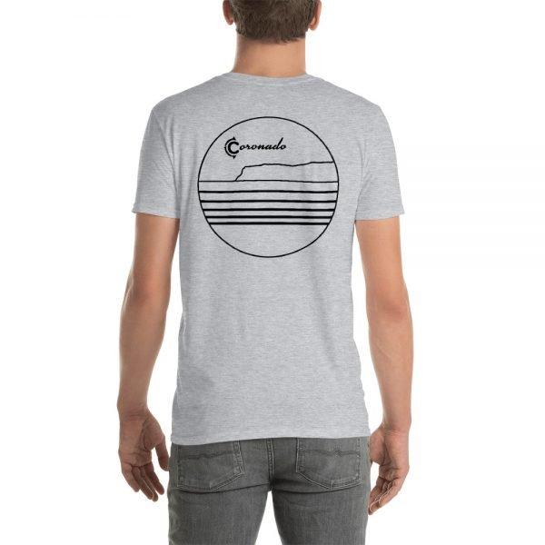 Coronado Outlines Backside Short-Sleeve Unisex T-Shirt (gray back)