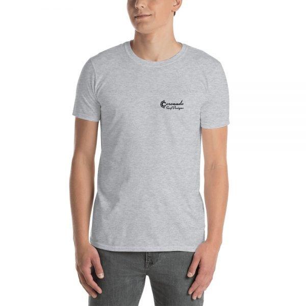 Coronado Outlines Backside Short-Sleeve Unisex T-Shirt (gray front)