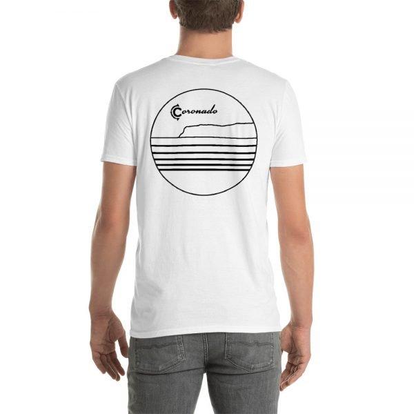 Coronado Outlines Backside Short-Sleeve Unisex T-Shirt (white back)