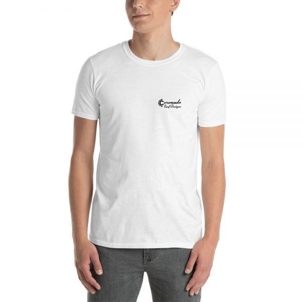 Coronado Outlines Backside Short-Sleeve Unisex T-Shirt (white front)