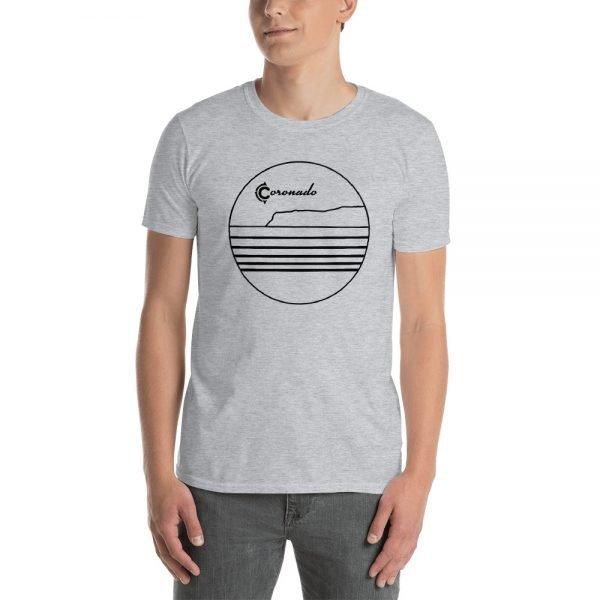 Coronado Outlines Frontside Short-Sleeve Unisex T-Shirt (gray)