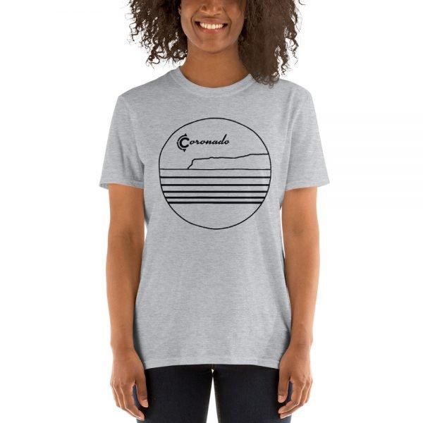 Coronado Outlines Frontside Short-Sleeve Unisex T-Shirt (gray front)