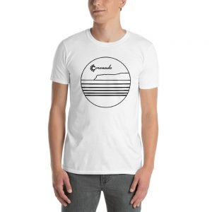 Coronado Outlines Frontside Short-Sleeve Unisex T-Shirt (white)
