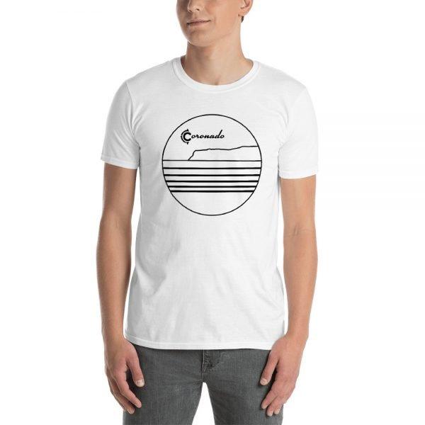 Coronado Outlines Frontside Short-Sleeve Unisex T-Shirt (white)