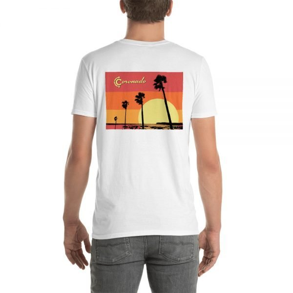 Coronado Sunset Palms Short-Sleeve Unisex T-Shirt (white back)