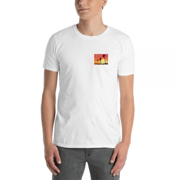 Coronado Sunset Palms Short-Sleeve Unisex T-Shirt (white front)