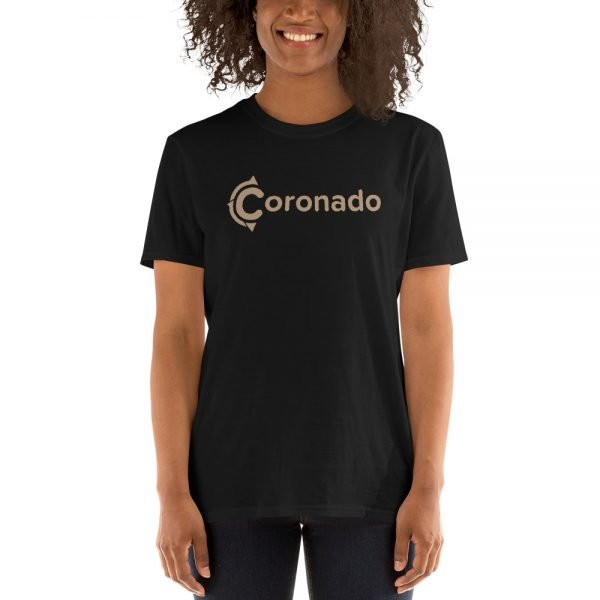 Coronado Logo Brown Short-Sleeve Unisex T-Shirt (black)