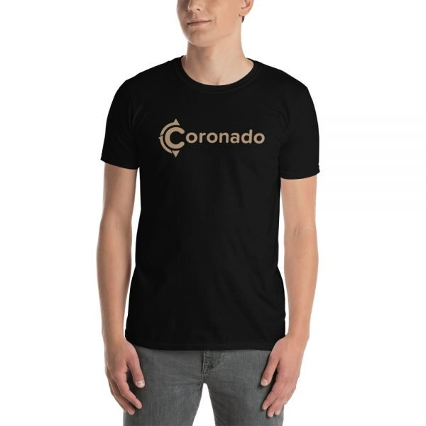Coronado Logo Brown Short-Sleeve Unisex T-Shirt (black shirt)