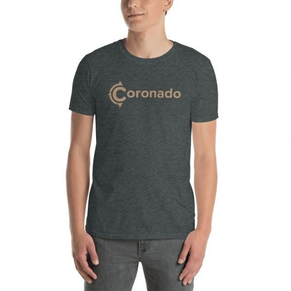 Coronado Logo Brown Short-Sleeve Unisex T-Shirt (gray)
