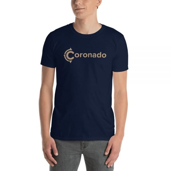 Coronado Logo Brown Short-Sleeve Unisex T-Shirt (navy)