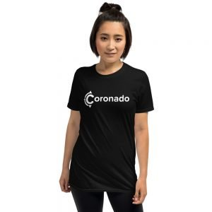 Coronado Logo White Short-Sleeve Unisex T-Shirt (black)