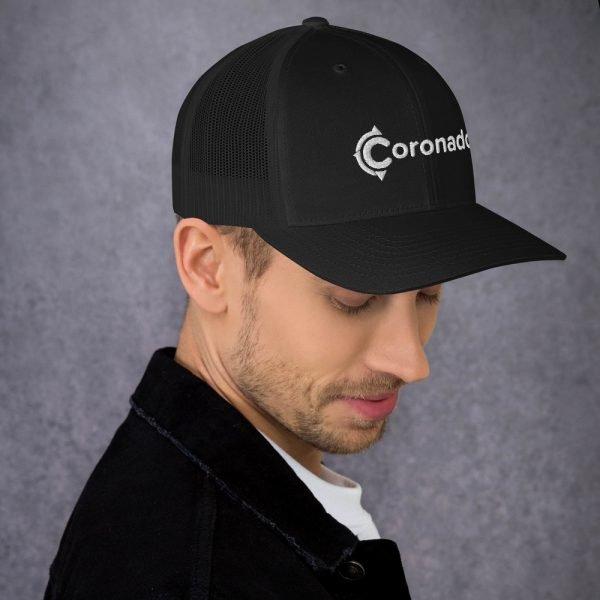 Men's Coronado Trucker Hat (Black right)