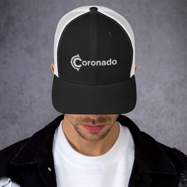 Men's Coronado Trucker Hat (Black White)