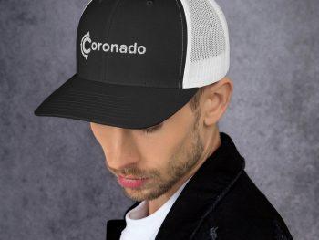 Men's Coronado Trucker Hat (Black White left)
