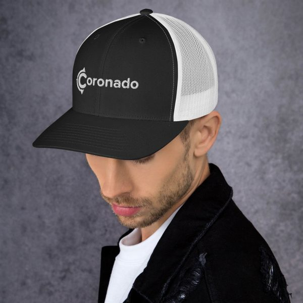 Men's Coronado Trucker Hat (Black White left)