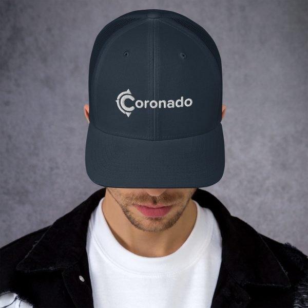 Men's Coronado Trucker Hat (Navy front)