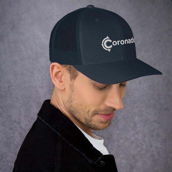 Men's Coronado Trucker Hat (Navy right side)