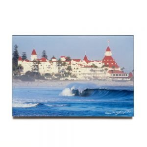 Hotel Del Coronado with North Beach Wave, Facemount print