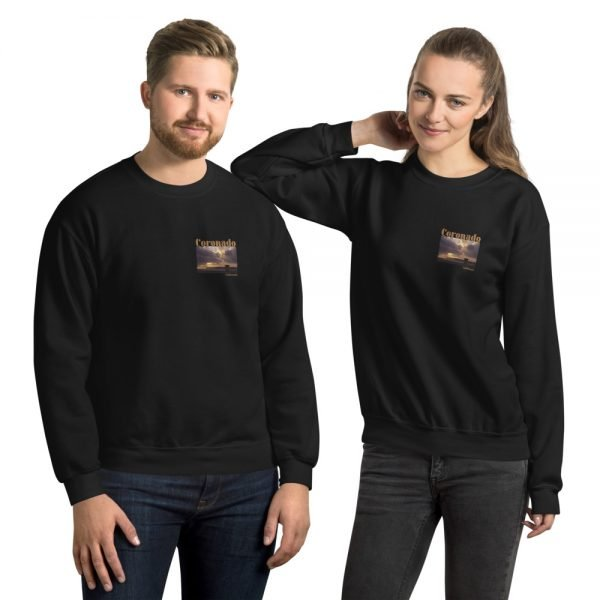 Coronado Lifeguard Tower Sweatshirt Unisex (Black)