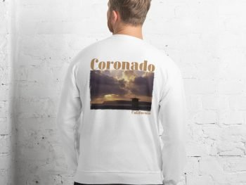 Coronado Lifeguard Tower Sweatshirt Unisex (White Back)