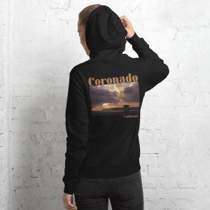 Coronado Lifeguard Tower Unisex Hoodie Sweatshirt (Black Back)