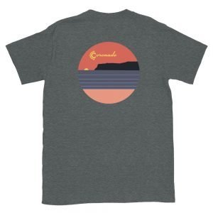 Coronado Sunsets Unisex short sleeve t-shirt (Dark Heather)