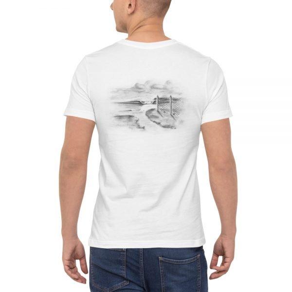 Outlet Fence Short-Sleeve Unisex Pocket T-Shirt (backside)