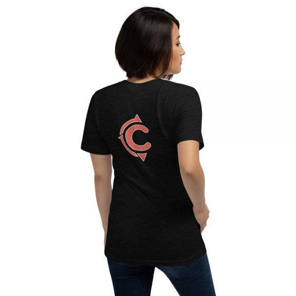 Coronado Classic Women's Short Sleeve T-shirt (Black Heather back)